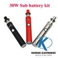 Mini 5pin lado recarga mini inteligente 30 W vape cigarro eletrônico kit com sub bateria 1.5 ml tanque vs Subvod Ijust de mega 2 topbox