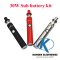 Mini 5pin side recharge mini smart 30W electronic cigarette vape kit  with sub battery 1.5 ml tank vs Subvod mega Ijust 2 topbox