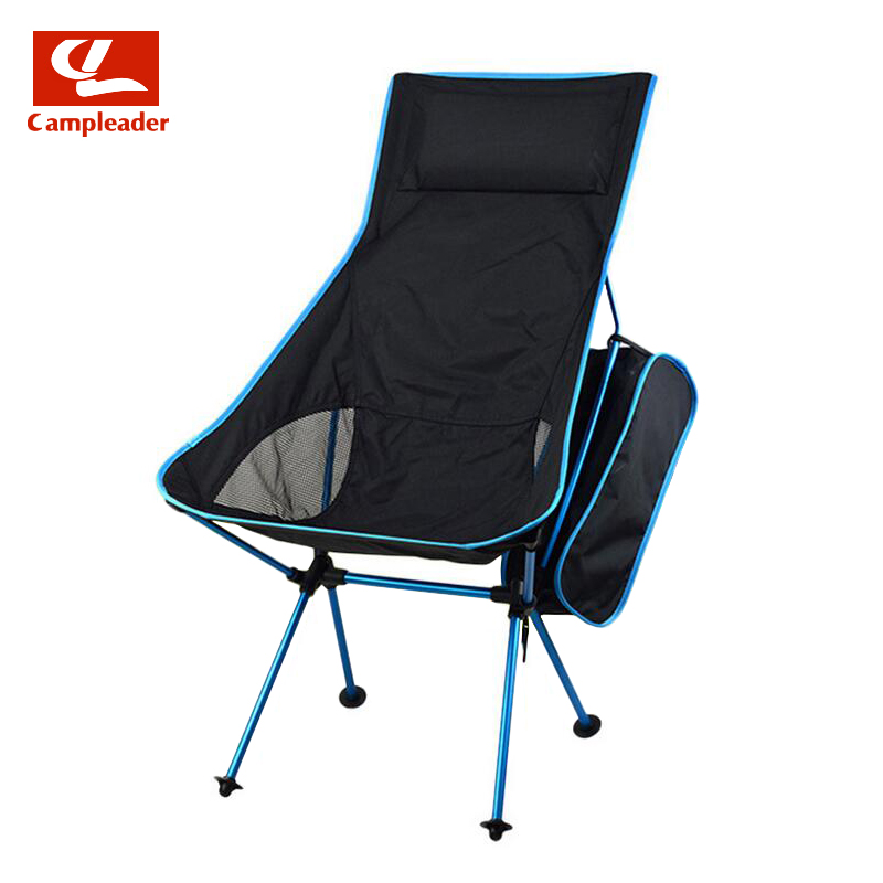 Campleader Outdoor Fishing Chair Barbecue Painting Portable Backrest Chair Folding Chair Camping Beach Stool CL191 costway outdoor aluminum alloy backrest stool camping folding chair oxford cloth fishing chair portable beach chair w0263