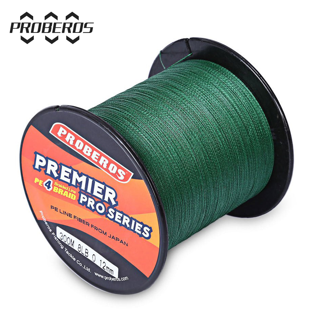 High Quality Durable 300M PE Braided Fishing Line 4 stands 6LBS to 80LB Multifilament Fishing Line
