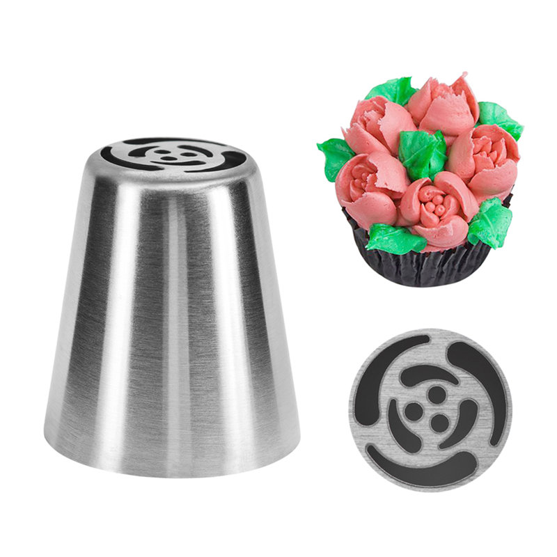 1Pc VOGVIGO Stainless Steel Russian Icing Piping Nozzle Tips Pastry Sugar Crafts Cream Nozzles Cake Decorating Tools