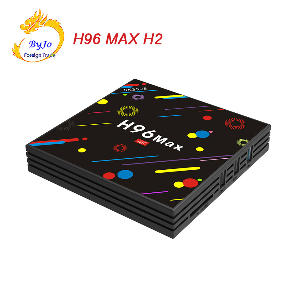 Android 7.1 smart TV box H96 MAX H2 Rockchip RK3328 Quad-core 4GB RAM 32 ROM Support H.265 UHD BT 4K 5G WiFi Set top box