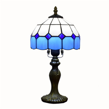 E27 Stained Glass Lampshade Bedroom Bedside Vintage Table Lamp Light Fixtures Mediterranean Decor Turkish Mosaic Lamps