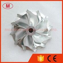 K24 5324 123 2007 42.37/60.50mm 6 + 6 lâminas compressor boleto turbo roda/alumínio 2024/roda de trituração para 911 gt2 (996), 911