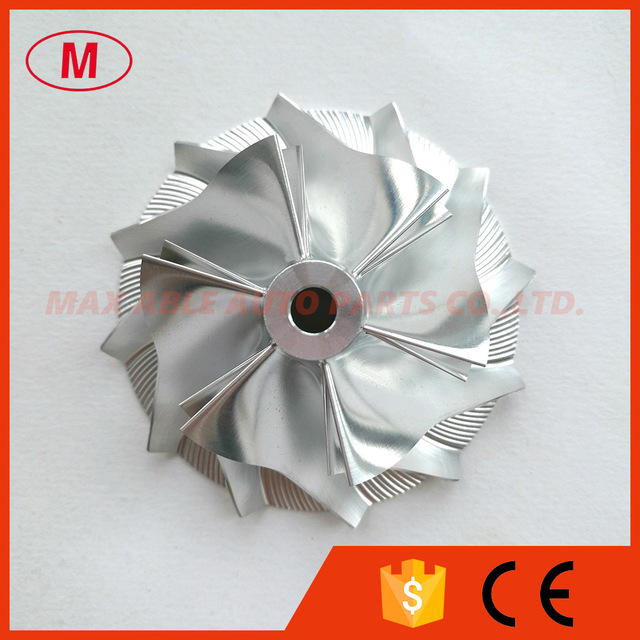 K24 5324 123 2007 42.37/60.50mm 6 + 6 lame Turbo Billet ruota del compressore/Alluminio 2024/ruota di fresatura per 911 GT2 (996), 911