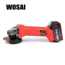 WOSAI 20V Lithium Battery Cordless Angle Grinder Grinding Machine Polishing Cutting Grinding Sanding Wax Power Tools недорого