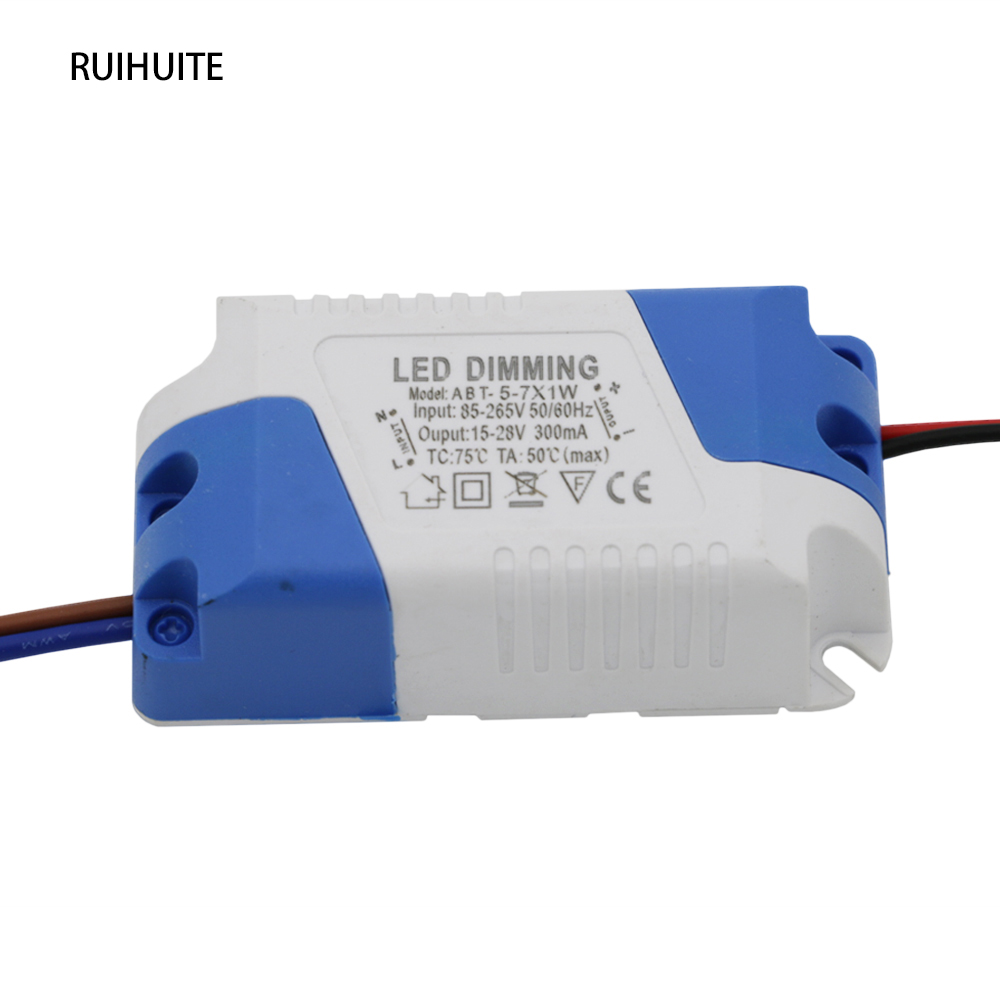 Ruihuite 5pcs Lot Dimmer Driver 5 7x1w Dc 15 28v 300ma 5w 6w 7w Emergency Led Ballast With Low Voltage Wiring Power Supply Ac 85 265v For Dimmable Light In Lighting Transformers From Lights