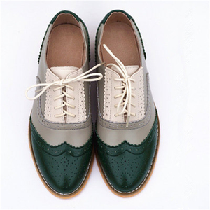 Image 4 - Womens Flats Oxford Shoes Woman Genuine Leather Sneakers Ladies Brogues Vintage Casual Oxfords Shoes For Women Footwear