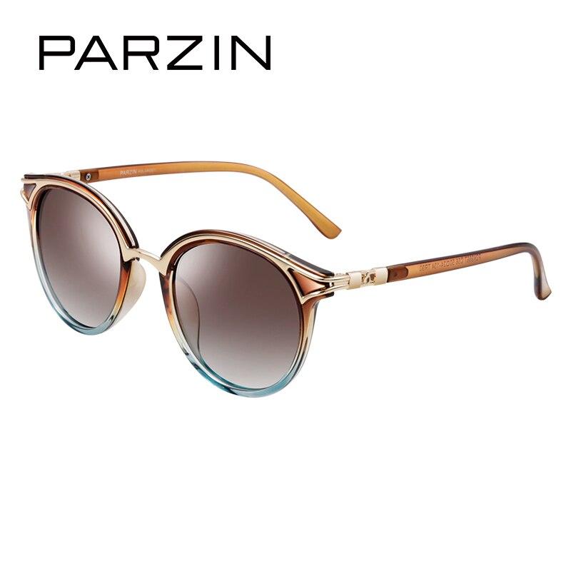 PARZIN Retro Round Women Sunglasses Fashion Sun glasses Elegant Ladies Luxury Spectacles Polarized Glasses With Logo