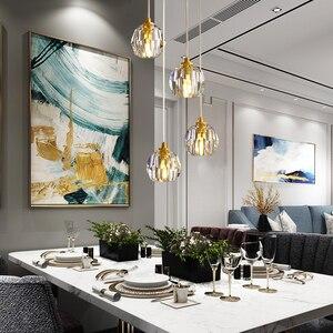 Image 3 - נורדי מודרני תליון אורות מסעדה יחיד/4 ראש זכוכית כדורי תליית מנורות אוכל חדר ספירלת לופט תליון אור גופי