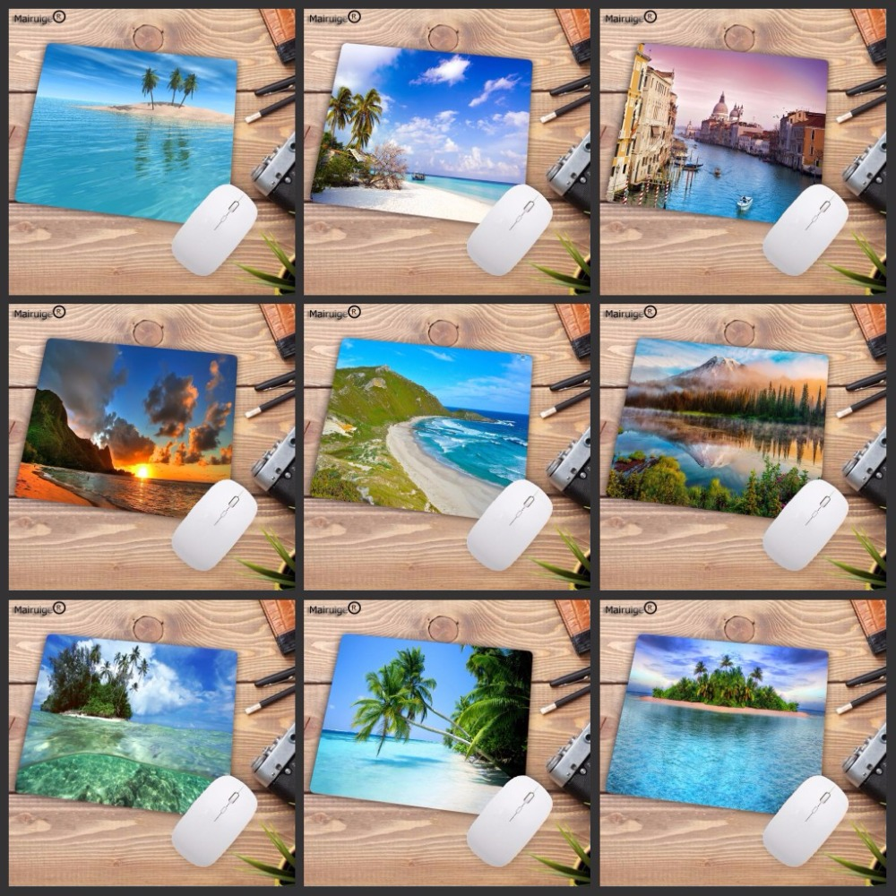 Mairuige Beach Palm Island Background  Anti-Slip Gaming Speed Mouse Pad 180x220x2mm Cool Design Mouse Pad