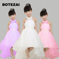 3a68dd26593ed 17Princess Flower Girl Dress For Wedding Party High Quality Bridesmaid Kids  Bow Sleeveless Trailing Lace Tulle
