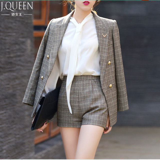 Aliexpress.com : Buy 2017 New Short Pant Suits Women Casual Office ...