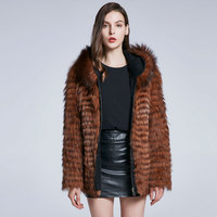 Cheap real Fox Jacket True Fox Fur Jacket Furry Fur Warm Chinese Fur Manufacturer 2018 New Discount High Quality Female Top