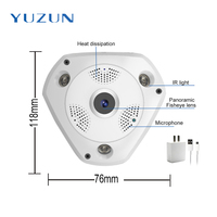 Ultra HD 5MP Panoramic IP Camera 360degree Wide Angle FishEye Len Best Outdoor Wireless Home Security
