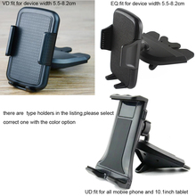 Portable Rotary Car CD Slot Dash GPS Tablet Mobile Phone Mount Stand Holders For LeEco Le Pro 3 AI Edition.alcatel Flash (2017)