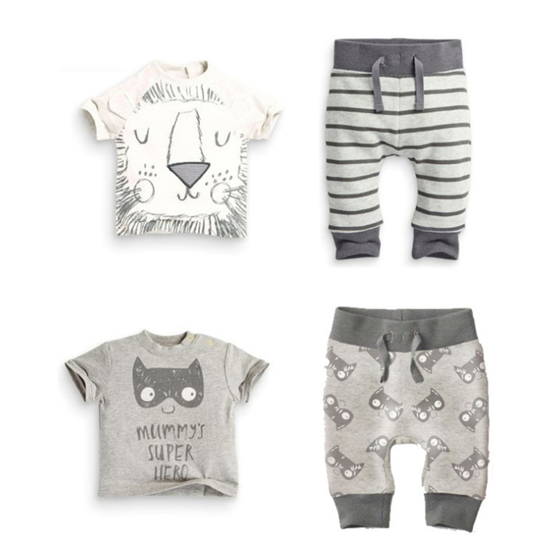 Baby Clothes Set Unisex Baby Girl Pants Blouse Summer Newborn Baby Clothing Sets outfit Boy Cotton Little Monster Bebe Conjuntos