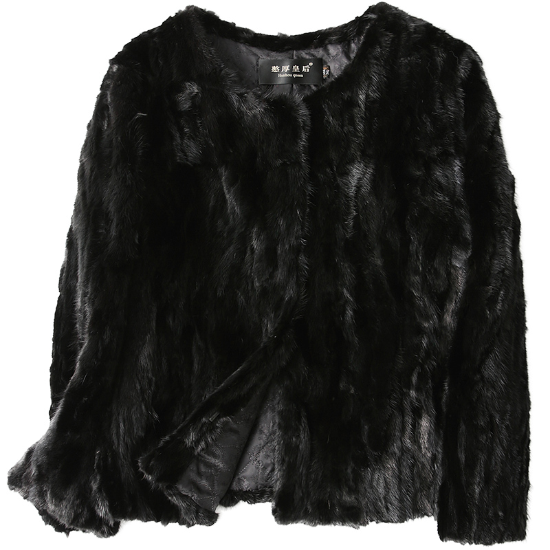 Winter Women`s Short Real Mink Fur Jackets Genuine fur Coats Customizable Female Autumn Outwear Thick Warm Natural Fur Clothes