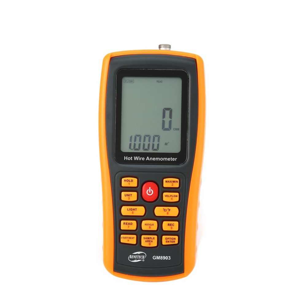цена на BENETECH GM8903 Portable Hot Wire Digital Anemometer 0~30m/s Air Temperature Meter 0~45C Wind Speed Flow Tester