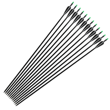 """33"""" Fiberglass Arrows Hunting Archery Arrow with Replaceable Tips and Plastic Fletching for Recurve Bows/Compound Bows Spine 500"""