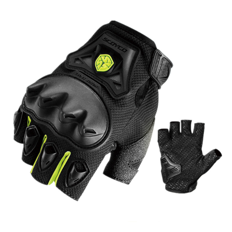 RED,XL Scoyco Full Finger Ventilate Race Extreme Sports Shell Protective Breathable Motorcycle Gloves