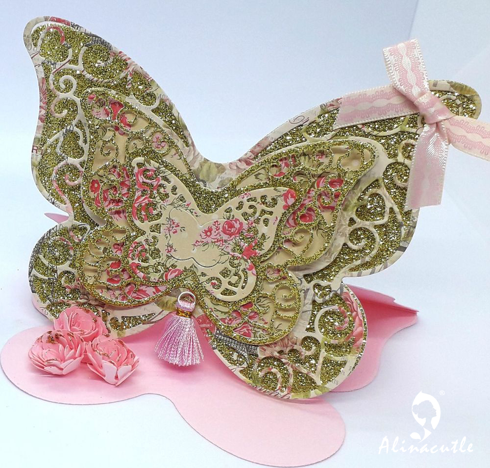 Die Cut Metal Cutting die butterfly 7pc layered lace butterfly Scrapbook Paper Craft Handmade Card Punch Art Cutter Die Cut(China)