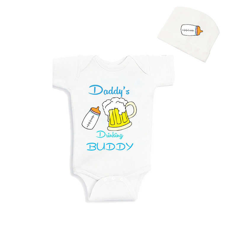 d3bda9e67 Detail Feedback Questions about Cublutomind Father's Day Daddys Drinking  Buddy Funny Baby Body Suit Clothes Baby Shower Gift for NB 12m Babies  Summer ...