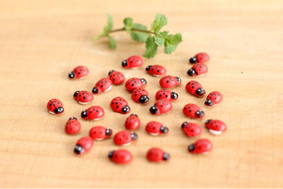 Красный или смешанные цвета Микро пейзаж Бонсай садоводство леди жук насекомое украшения Декоративные цветы растения Садовые украшения