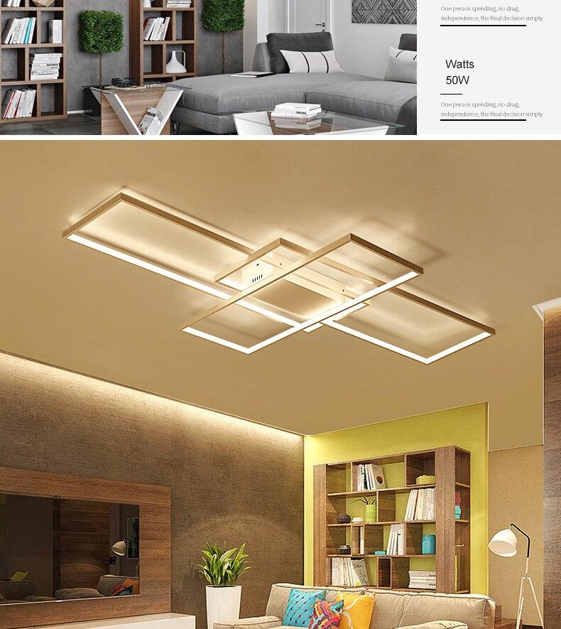 HTB17OnsaJfvK1RjSszhq6AcGFXa6 NEO Gleam Rectangle Aluminum Modern Led ceiling lights for living room bedroom AC85-265V White/Black Ceiling Lamp Fixtures