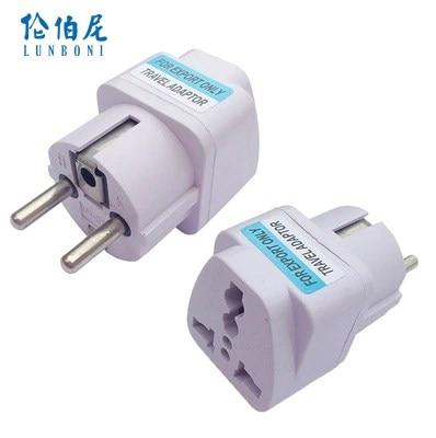 1PC Universal EU GER AU Plug Adapter European Germany Australia Chinese Power Socket White Travel Converter Conversion Plug