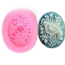 Moule artisanal en forme de roses 3D en Silicone, 1 pièce, ustensiles de cuisson, décoration pour Fondant, chocolat, sucre, DIY