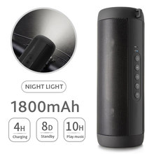 T2 Bluetooth Musik Bass Speaker Tahan Air Portable Outdoor LED Wireless Kolom Loudspeaker Mendukung TF Kartu FM Radio Aux Input(China)