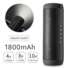 T2 Bluetooth müzik bas hoparlör su geçirmez taşınabilir açık LED kablosuz sütun hoparlör destek TF kart FM radyo Aux girişi
