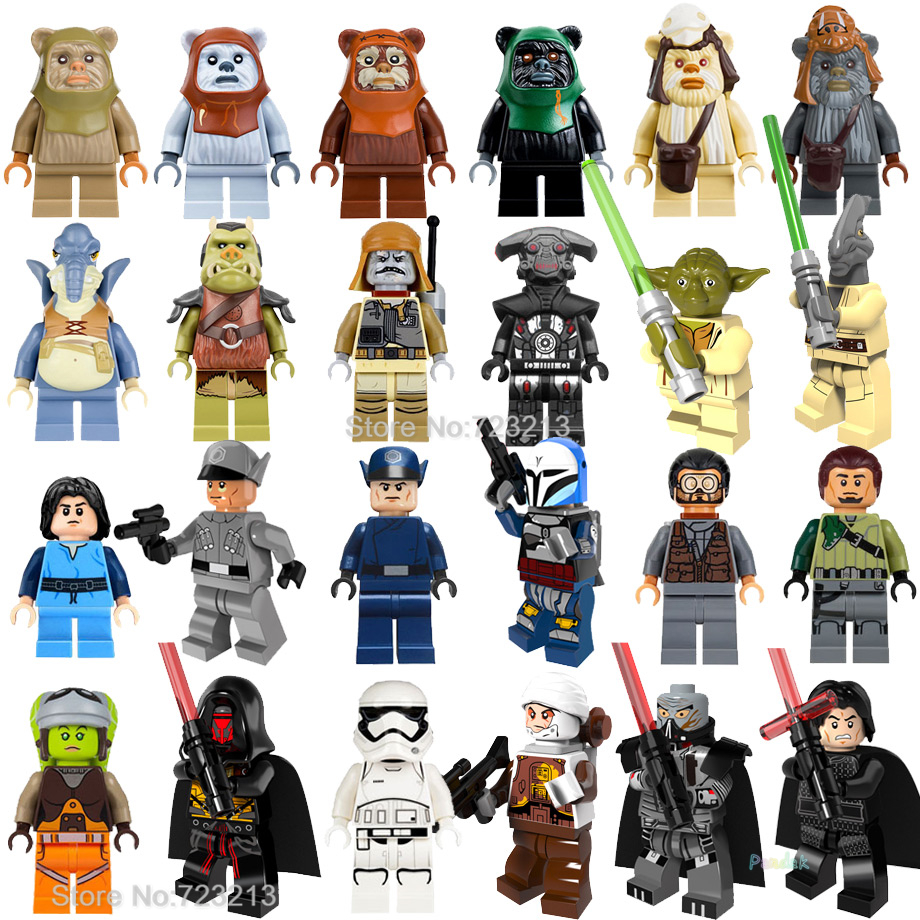 Ewok Warrior Starwars Figure Yoda Coleman Trebor Logray Tokkat Dengar Bounty Hunter Gamorrean Paploo Teebo Building Blocks Toys