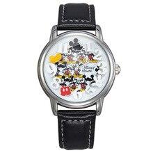 Disney marcas de estudiantes Relojes de cuarzo Mickey ratón Niñas de niños impermeable reloj digital niños relojes relogio relojes
