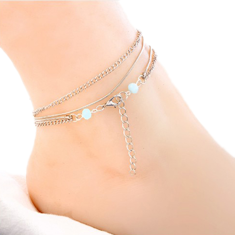 Health Care Weight Loss Magnet Multi-layers Beads Pendant Anklet Magnetic Therapy Bracelet Anklet Weight Loss Product