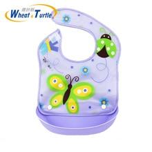 Newborn Baby Bibs Waterproof Aprons Bib infant saliva towels cute baby cartoon bib slabbetjes plastic EVA baberos bebe