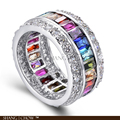 2017 Winter Trendy Fashion Jewelry for women cocktail prom birthday Gift Multi Color 925 Sterling Silver Jewelry Set P-E-R0111