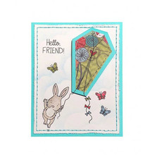 Kite Critter Pig Rabbit Bunny Maker Metal Cutting Dies and Clear Stamps for Craft Scrapbooking Embossing New 2019 Card Making