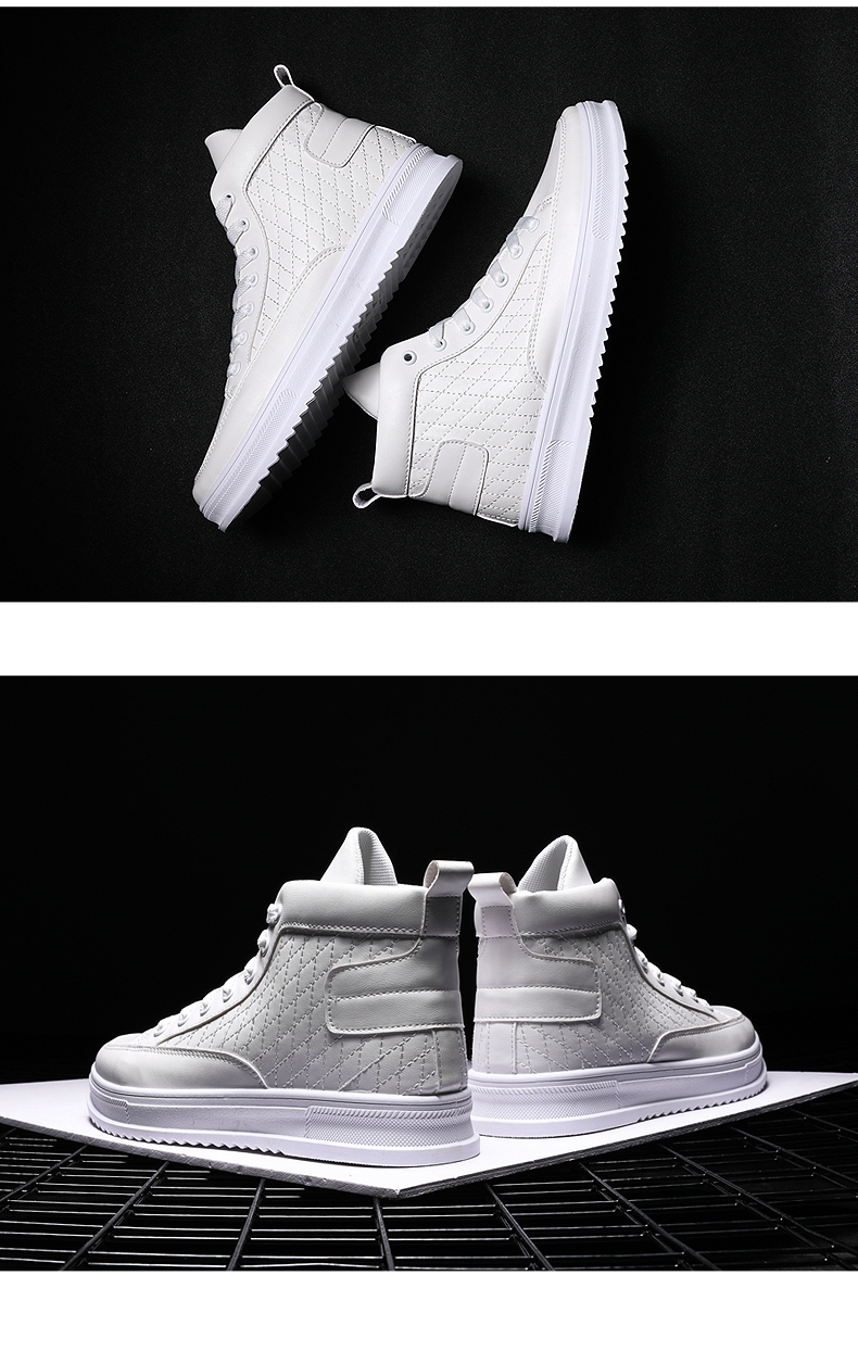 Brand Men Shoes 2019 Spring Fashion Boots Shoes Man High Top Shoes Men Lace Up Casual Shoe Chaussure G25