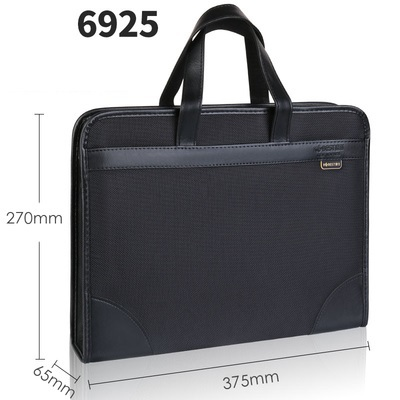 Document bag canvas office men's tote bag business multi-layer Oxford briefcase female simple information package