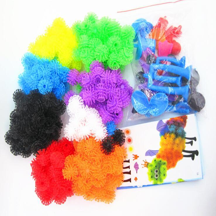 1000 Teile/satz Montieren 3D Puzzle DIY Puff Ball Gequetscht Ball Kreative Dorn Ball Kreative Handgefertigten Pädagogische Spielzeug Ohne Box