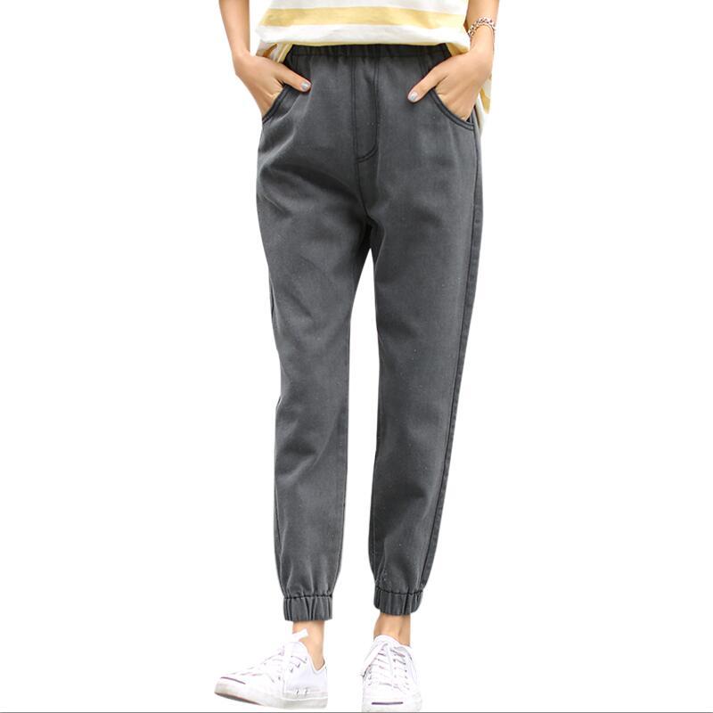 Neue Damen Hohe Taille Mama Weibliche Boyfriend-Jeans Für Frauen Denim Hosen Bleistift Hosen Denim Schwarz Jeans Frau Plus Größe s-5XL