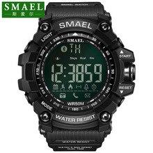 Smael Элитный бренд Смарт-часы Для мужчин с BT вызова/SMS/Twitter Facebook/WhatsApp/Skype напоминание спортивные шаги подсчет часы