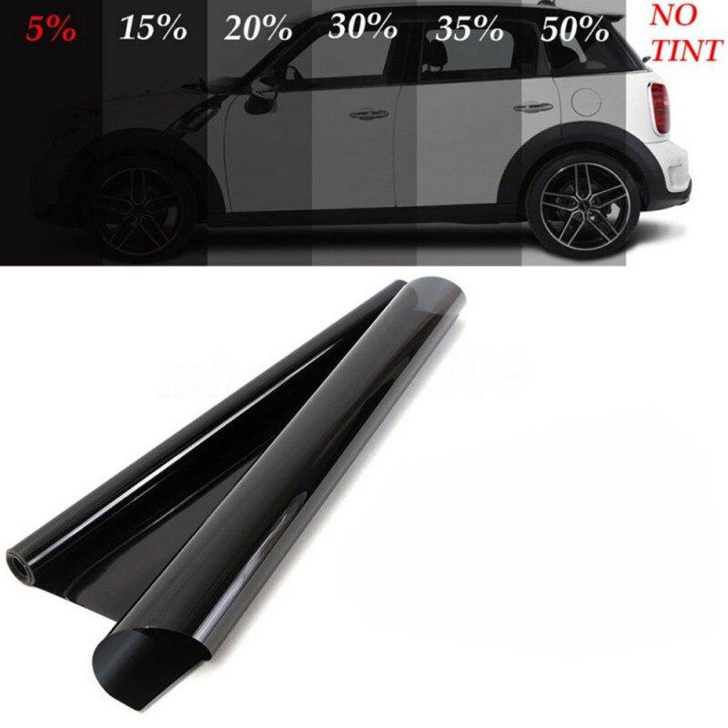 50*600CM Black Car Window Tint Film Glass  5% VLT Roll 1 DIY Car Auto House Solar Protection UV-proof Scratch Resistant