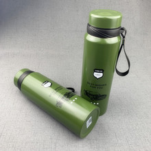 Creative Army Green Portable Kettle Stainless Steel Vacuum 1000ml Outdoor Camping Mug