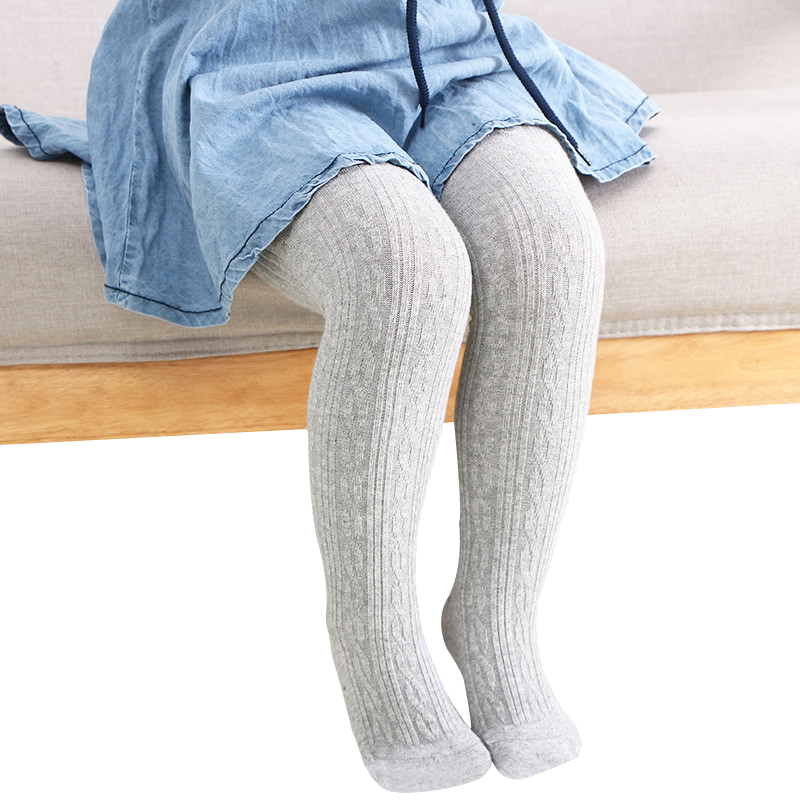 New Fashion Kid Baby Girls Tights Knee High Cotton Long Warm Tights Kids Toddlers Pantyhose Leg Warmer Tights 0-24 Months