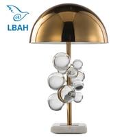 American post modern gold desk lamp bedroom bedside lamp simple creative living room crystal lamp