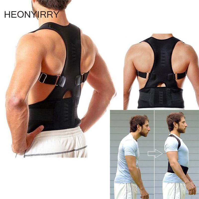 304b9ede440 Male Female Adjustable Magnetic Posture Corrector Corset Back Brace Back  Belt Lumbar Support Straight Corrector de espalda S-XXL