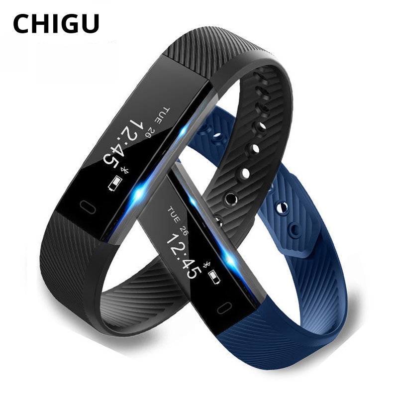 Chigu ID115 HR Plus Smart Bracelet Watch Blood Pressure Pedometer Heart Rate Monitor Waterproof Android Smart Band Wristband lemfo id115 hr plus smart bracelet fitness and sleep tracker pedometer heart rate monitor smart band wristband